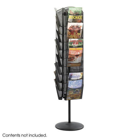 Safco 5577BL Onyx™ Rotating Mesh Magazine Stand - Peazz Furniture