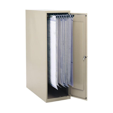 "Safco 5041 Large Vertical Storage Cabinet for 18"", 24"", 30"" and 36"" Hanging Clamps - Peazz Furniture"