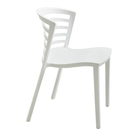 Safco 4359WH Entourage Stack Chair - White (qty. 4) - Peazz Furniture