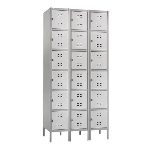 Safco 5527GR Box Locker 3 Column - Peazz Furniture