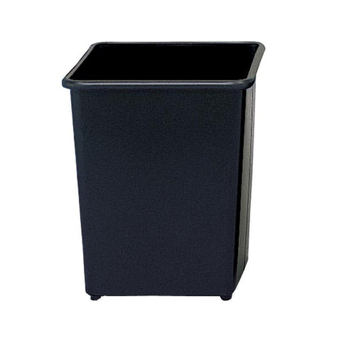 Safco 9612BL Square Wastebasket, 31 Qt. (Qty.3) - Peazz Furniture