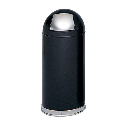 Safco 9636BL Push Door Dome Top Receptacles - Peazz Furniture