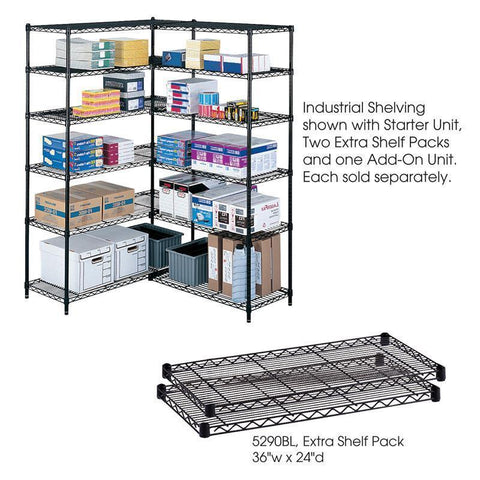 "Safco 5290BL Industrial Extra Shelf Pack, 24 x 36"" - Peazz Furniture"
