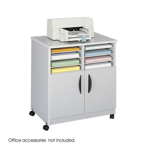 Safco 1851GR Mobile Machine Stand with Sorter - Peazz Furniture