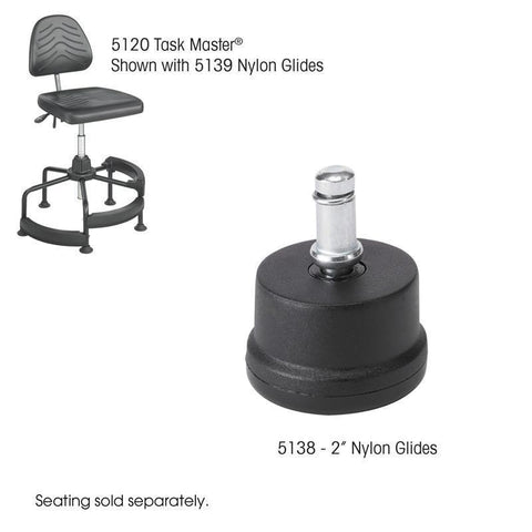 "Safco 5138 TaskMaster® 2"" Nylon Glides - Peazz Furniture"