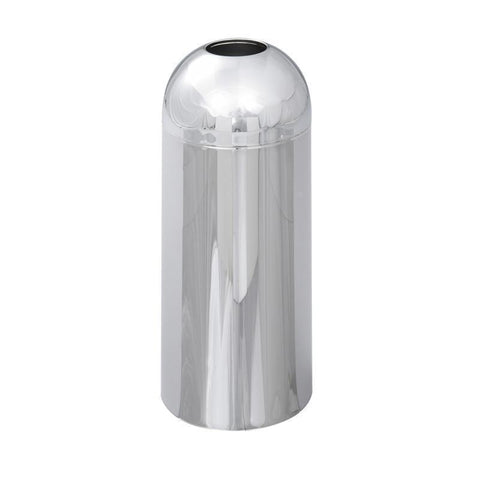 Safco 9875 Reflections By Safco® Open Top Dome Receptacle, Chrome - Peazz Furniture