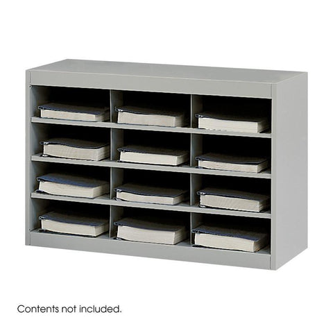 Safco 9254GR E-Z Stor® Steel Project Organizer, 12 Compartments - Peazz Furniture
