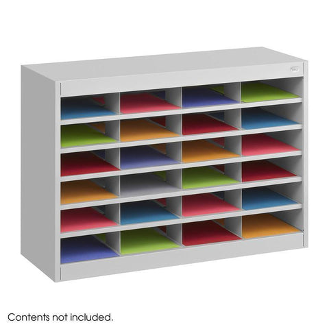 Safco 9211GRR E-Z Stor® Literature Organizer, 24 Letter Size Compartements - Peazz Furniture