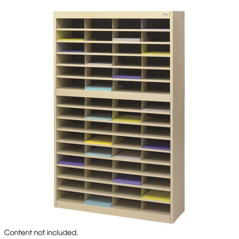 Safco 9231TSR E-Z Stor® Literature Organizer, 60 Letter Size Compartments - Peazz Furniture