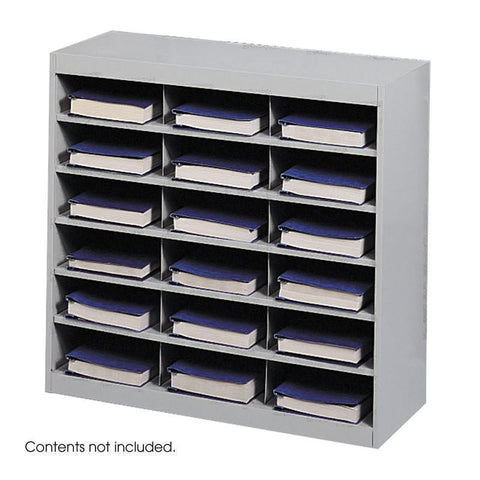Safco 9264GR E-Z Stor® Steel Project Organizer, 18 Compartments - Peazz Furniture
