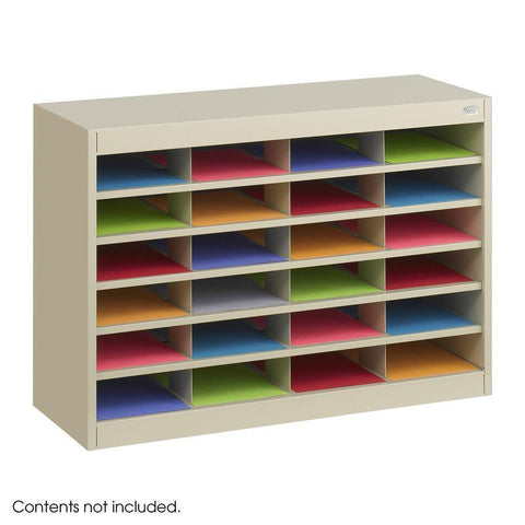 Safco 9211TSR E-Z Stor® Literature Organizer, 24 Letter Size Compartments - Peazz Furniture