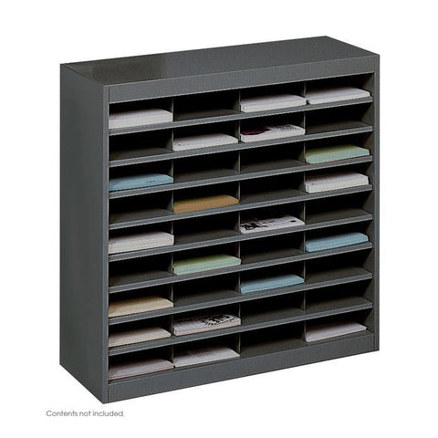 Safco 9221BLR E-Z Stor® Literature Organizer, 36 Letter Size Compartments - Peazz Furniture
