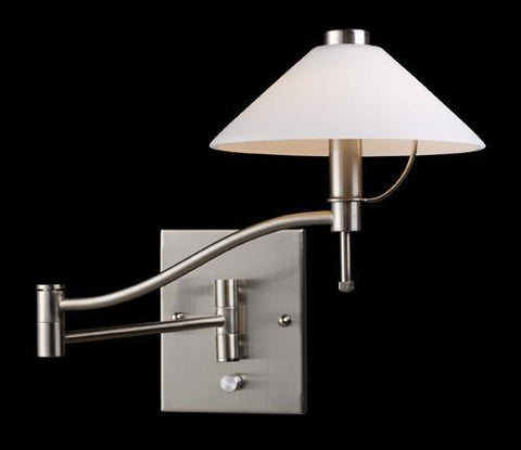 ELK Lighting 10112-1 Swingarm One Light Sconce In Satin Nickel - PeazzLighting