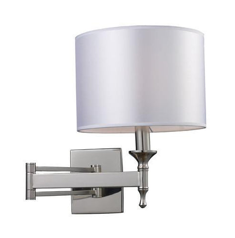 ELK Lighting 10160-1 Pembroke One Light Sconce Swing Arm In Polished Nickel - PeazzLighting