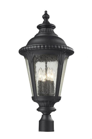 Z-Lite 545phb-bk Medow Collection Outdoor Post Light - ZLiteStore