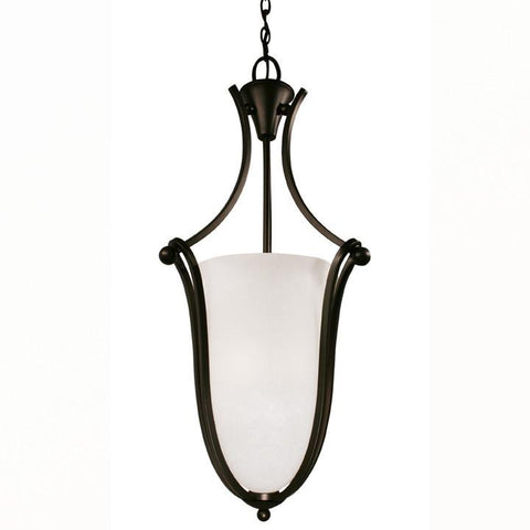 Z-Lite Carlisle Collection Bronze Finish Three Light Foyer Pendant - ZLiteStore
