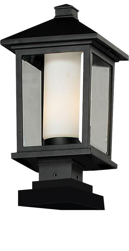 Z-Lite 538phb-sqpm-bk Mesa Collection Outdoor Post Light
