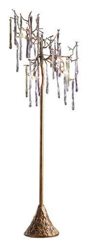 Dimond 1701/5 5 Light Floor Lamp In Talha Bronze And Multi Hued Spires - PeazzLighting