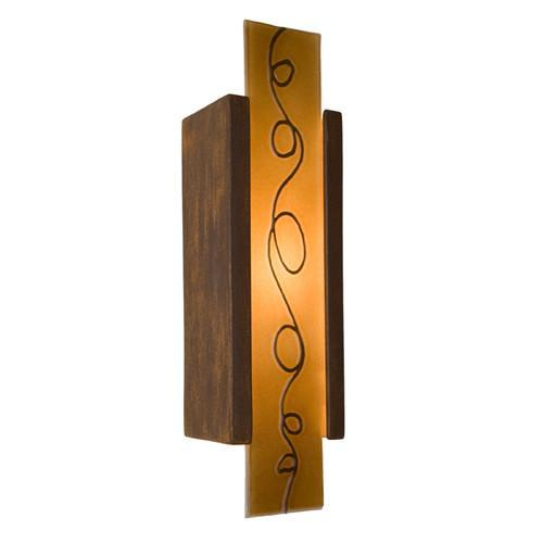 A19 RE114-BT-CM Squiggle Wall Sconce Butternut and Caramel