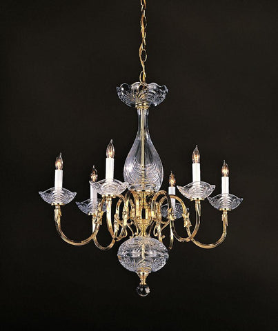 Crystorama 466-PB 6-Lights 24% Lead Crystal Chandelier - Polished Brass - PeazzLighting