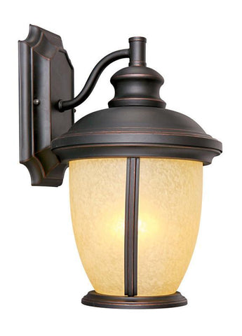 Design House 517599 Bristol Outdoor Downlight Orb Oil Rubbed Bronze - PeazzLighting
