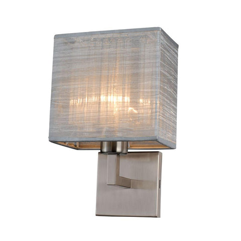 Bromi Design B5403BN Prescott Single Silk Silver Wall Scone - PeazzLighting