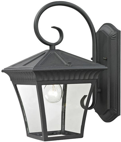 Cornerstone 8411EW/65 Ridgewood 1 Light Exterior Coach Lantern In Matte Textured Black - PeazzLighting