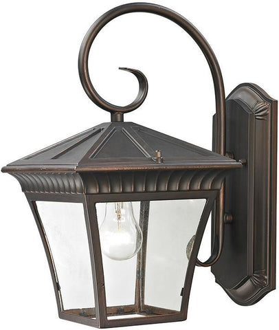 Cornerstone 8411EW/70 Ridgewood 1 Light Exterior Coach Lantern In Hazelnut Bronze - PeazzLighting