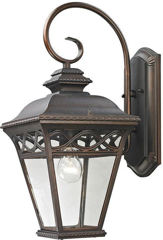 Cornerstone 8511EW/70 Mendham 1 Light Exterior Coach Lantern In Hazelnut Bronze - PeazzLighting