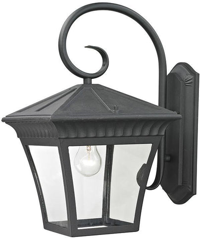 Cornerstone 8421EW/65 Ridgewood 1 Light Exterior Coach Lantern In Matte Textured Black - PeazzLighting