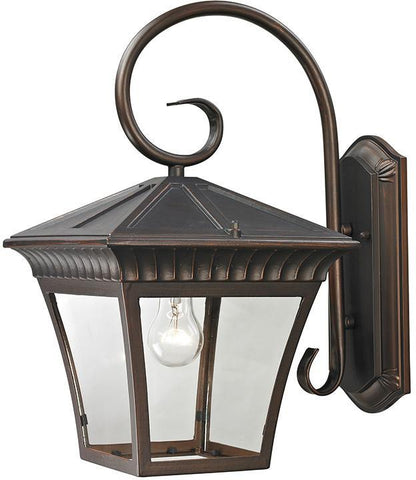 Cornerstone 8421EW/70 Ridgewood 1 Light Exterior Coach Lantern In Hazelnut Bronze - PeazzLighting