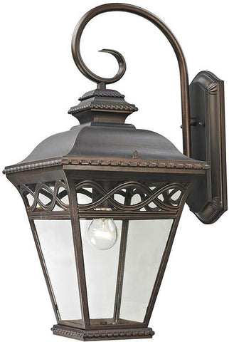 Cornerstone 8521EW/70 Mendham 1 Light Exterior Coach Lantern In Hazelnut Bronze - PeazzLighting