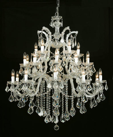 Crystorama Maria Theresa Chandelier Draped in Swarovski Spectra Crystal 10 Lights - Gold - 4470-GD-CL-SAQ - PeazzLighting
