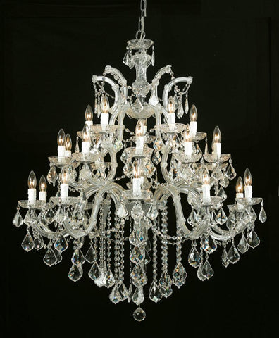 Crystorama Maria Theresa Chandelier Draped in Swarovski Elements Crystal 10 Lights - Gold - 4470-GD-CL-S - PeazzLighting