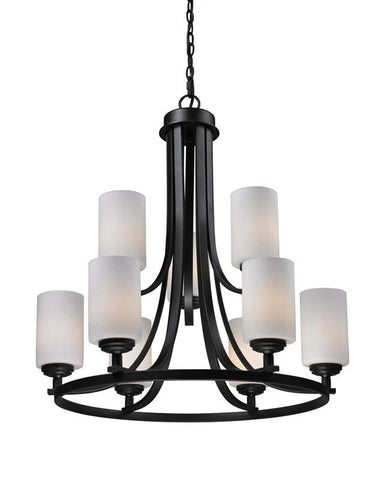 Z-Lite 2006-9 Chambley Collection Oil Rubbed Bronze Finish 9 Light Chandelier - ZLiteStore