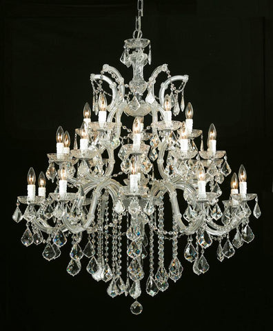 Crystorama Maria Theresa Chandelier Draped in Hand Cut Crystal 10 Lights - Gold - 4470-GD-CL-MWP - PeazzLighting