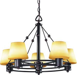 Z-Lite Park Plaza Collection Weathered Bronze Finish 5 Light Chandelier - ZLiteStore