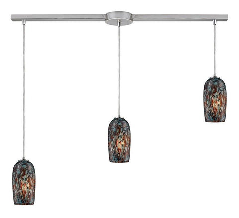 ELK Lighting Collage 3- Light Pendant In Satin Nickel - 31147/3L - PeazzLighting