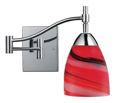 ELK Lighting Celina Celina 1-Light Swingarm In Polished Chrome And Candy Glass - 10151/1PC-CY - PeazzLighting