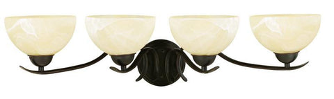 Design House 517474 Trevie 4Lt Vanity Light Orb Oil Rubbed Bronze - PeazzLighting