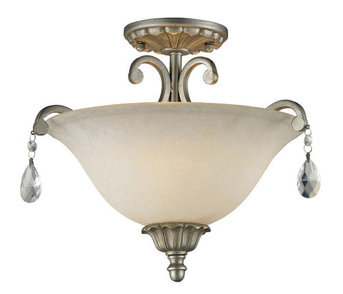 Z-Lite 720SF-AS 3 Light Semi-Flush Mount - ZLiteStore