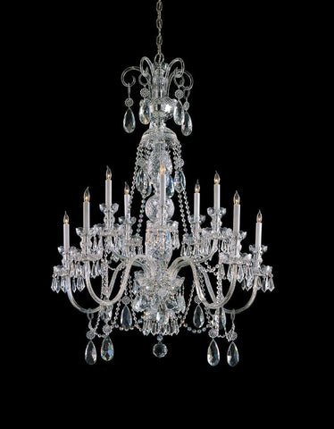 Crystorama Clear Hand Cut Crystal Chandelier 5 Lights - Polished Chrome - 5020-CH-CL-MWP - PeazzLighting