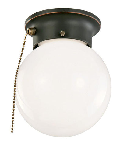 Design House 519264 1 Light Globe Ceiling Mount With Pull Chain Oil Rubbed Bronze - PeazzLighting
