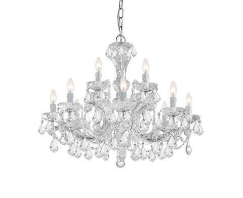 Crystorama Maria Theresa Chandelier Draped in Swarovski Elements Crystal 8 Lights - Polished Chrome - 4479-CH-CL-S - PeazzLighting