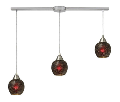 ELK Lighting Fission Fission 3-Light Linear Wine Pendant In Satin Nickel - 10208/3L-WN - PeazzLighting