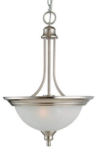 Design House 517102 517102 Bristol 2 Light Pendant Satin Nickel - PeazzLighting