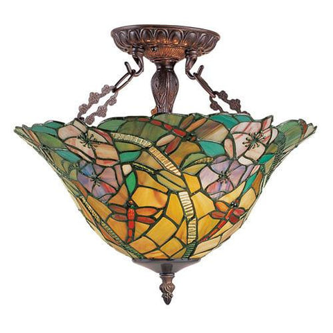 Z-Lite Eden Chestnut Bronze 3 Light Semi Flush Mount Z14-18-14 - ZLiteStore