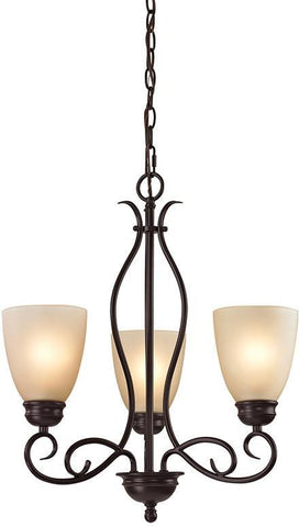 Cornerstone 1103CH/10 Chatham 3 Light Chandelier In Oil Rubbed Bronze - PeazzLighting