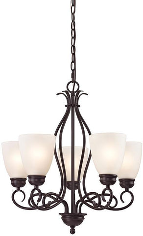 Cornerstone 1155CH/10 Chatham 5 Light Chandelier In Oil Rubbed Bronze - PeazzLighting