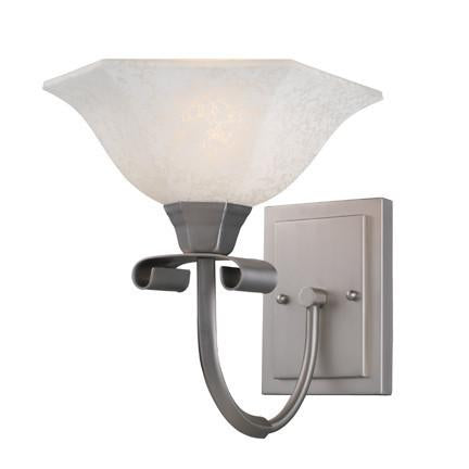 Z-Lite Liberty Collection Satin Nickel Finish One Light Wall Sconce - ZLiteStore